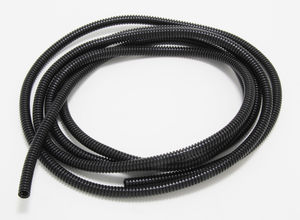 "BLACK Wire Harness; Convoluted; 1/4"" Diameter- (10 ft)"