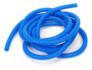 "BLUE Wire Harness; Convoluted; 3/8"" Diameter- (10 ft)"