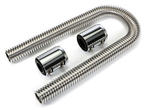 "36"" STAINLESS STEEL RADIATOR HOSE KIT-CHROMED ALUMINUM ENDS"
