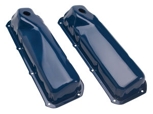 """O.E.M."" Style Valve Covers; Stock Ht.; FORD 351C/M, 400M, 302 Boss-FORD BLUE"