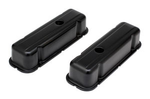 BUICK 231 V6 ASPHALT BLACK POWDER COATED VALVE COVERS