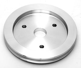 CRANKSHAFT Pulley; 1 Groove; CHEVROLET 396-454; SHORT W/P- Mach. ALUMINUM