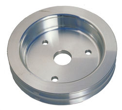 CRANKSHAFT Pulley; 2 Groove; CHEVROLET 396-454; SHORT W/P- Mach. ALUMINUM