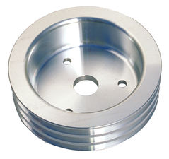CRANKSHAFT Pulley; 3 Groove; CHEVROLET 396-454; SHORT W/P- Mach. ALUMINUM