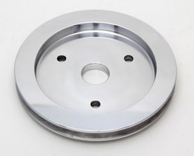 CRANKSHAFT Pulley; 1 Groove; 55-68 CHEVROLET 396-454; SHORT W/P- Pol. ALUMINUM