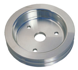 CRANKSHAFT Pulley; 2 Groove; 55-68 CHEVROLET 396-454; SHORT W/P- Pol. ALUMINUM