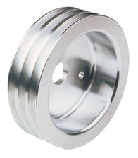 CRANKSHAFT Pulley; 3 Groove; 55-68 CHEVROLET 283-350; SHORT W/P- Pol. ALUMINUM