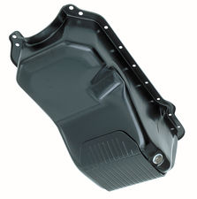 Jeep/AMC 304, 360, 401 SLAM-GUARD Oil Pan (STOCK)- BLACK