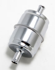 "3/8"" DISPOSABLE FUEL FILTER-CHROME (not for fuel injection)"