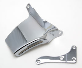 """O.E. Style"" ALTERNATOR Bracket (Top); 69-75 CHEVROLET 305-350; LONG W/P-CHROME"