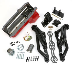 SWAP IN A BOX KIT-86-00 SBC INTO 82-04 2WD S10; 1-1/2 in. BLACK ELITE HEADERS