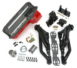 SWAP IN A BOX KIT-55-78 SBC INTO 82-04 2WD S10 ; 1-1/2 in. BLACK MAXX HEADERS
