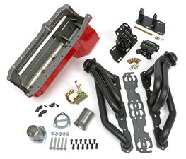 SWAP IN A BOX KIT-86-00 SBC INTO 82-04 2WD S10 ; 1-1/2 in. BLACK MAXX HEADERS
