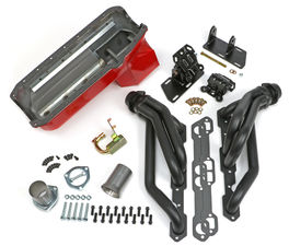 SWAP IN A BOX KIT-55-78 SBC IN 82-04 2WD S10 ; D-PORTS; 1-1/2 in. BLACK MAXX