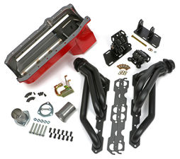 SWAP IN A BOX KIT-86-00 SBC IN 82-04 2WD S10 ; ANGLE PLUGS; 1-1/2 in. BLACK MAXX