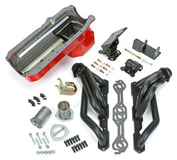 SWAP IN A BOX KIT-86-00 SBC INTO 82-04 4WD S10 ; 1-1/2 in. BLACK MAXX HEADERS