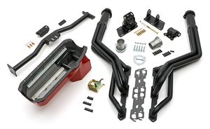 Engine Swap In A Box Kit; 55-78 SB Chevy in 82-04 S10/S15;Long Tube-Black Coated