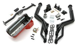 Engine Swap In A Box Kit; 86-00 SB Chevy in 82-04 S10/S15;Long Tube-Black Coated