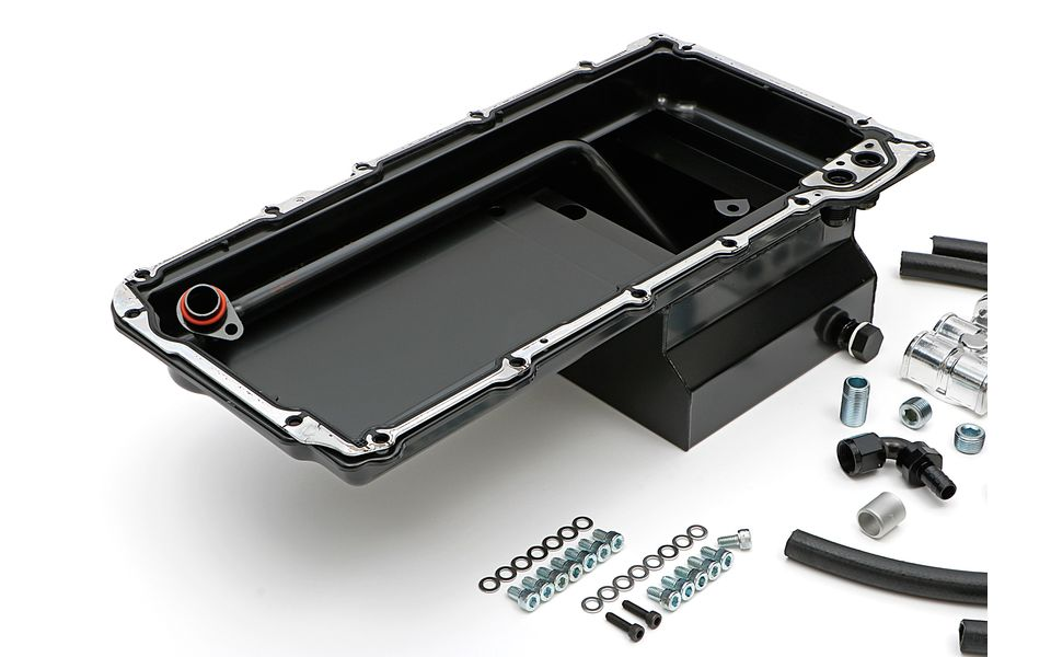 0181-HAMUBURGERS PERFORMANCE LS OIL PAN & FILTER RELOCATION KIT