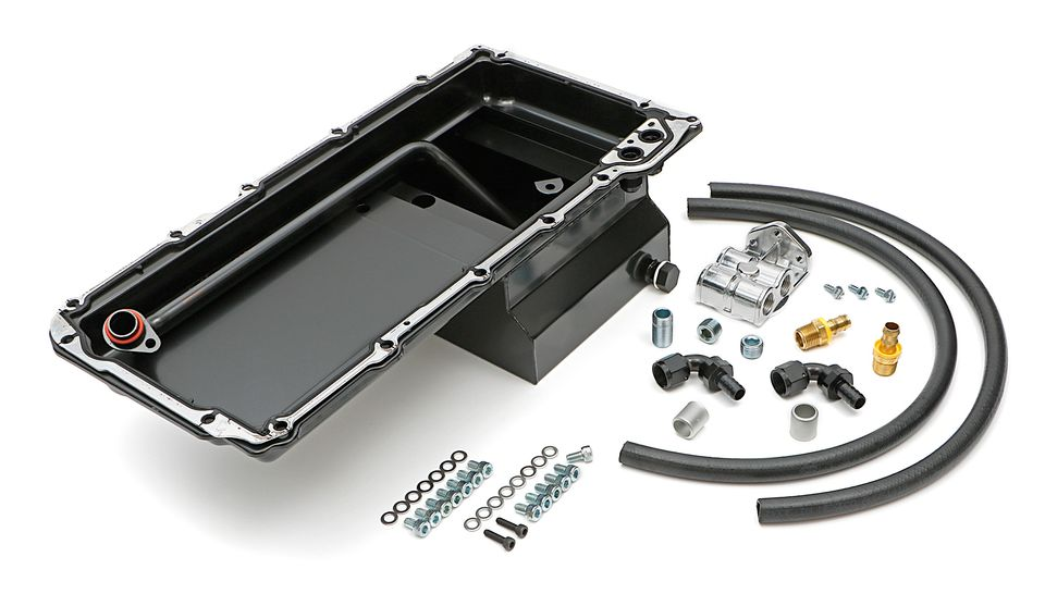 0181- HAMUBURGERS PERFORMANCE LS OIL PAN & FILTER RELOCATION KIT - Horizontal