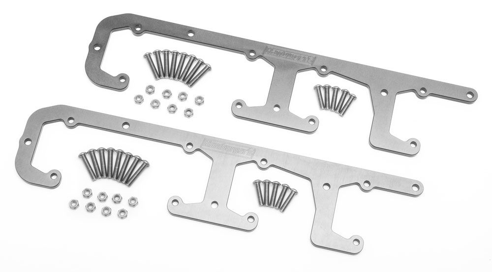 Photo of custom billet aluminum LS engine Coil Brackets from Hamburgers.