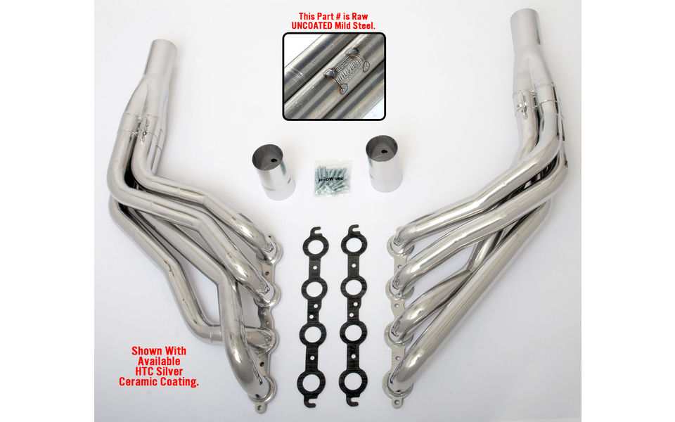 LS into 1967-98 GM 1/2 Ton Truck (2WD)- long-tube engine swap headers- Raw