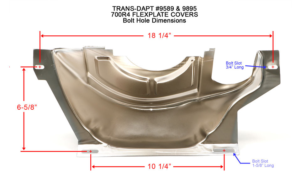 Bolt hole dimensions for Trans-Dapt 700R4 transmission flexplate cover
