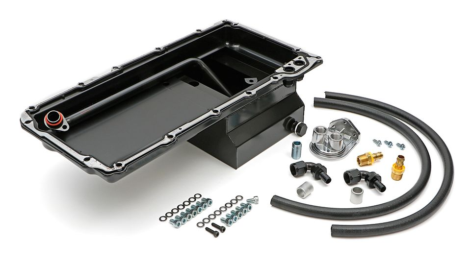 0180-HAMUBURGERS PERFORMANCE LS OIL PAN & FILTER RELOCATION KIT
