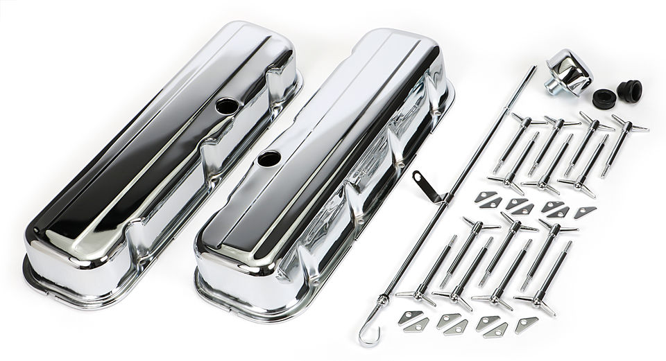 Engine Kit; BB CHEVROLET 396-454 (Mark IV); Tall Valve Covers- CHROME