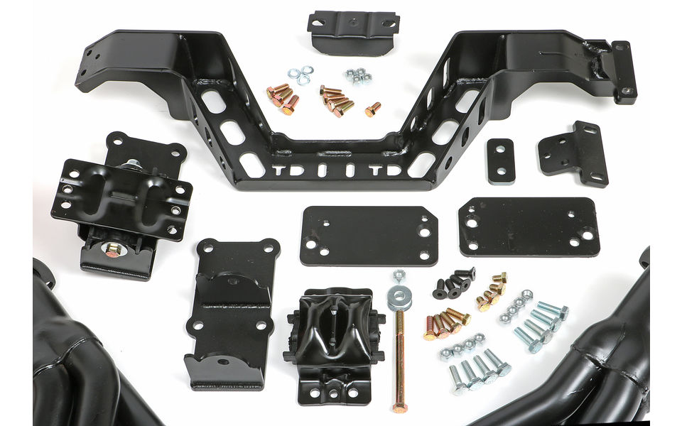 SWAP IN A BOX KIT-LS INTO 67-69 F-BODY; 68-74 X-BODY MAN TRANS; BLACK HEADERS