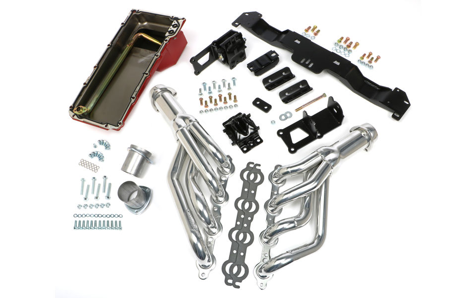SWAP IN A BOX KIT-LS ENGINE INTO 75-81 F-BODY AUTO TRANS. W/HTC HEADERS