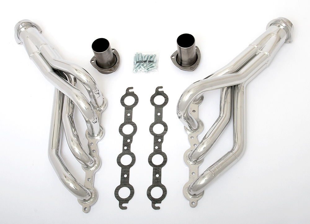 LS into 1982-93 Chevy S10 (2WD)- mid-length engine swap headers- HTC Silver