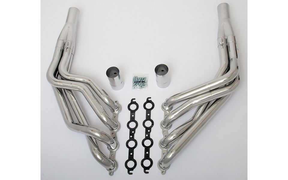 Photo of Stepped Long Tube headers for Tri-5 LS engine swap (1955-57 Chevy Cars)