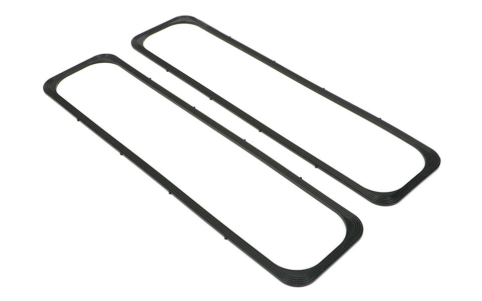 Rubber Valve Cover Gaskets; 87-99 Chevy 5.0/5.7L; Center-Bolt (no steel core)