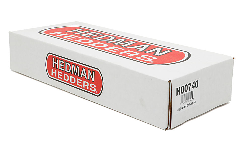 Packaging for Hedman LS Swap manifold exhaust adapter kit.