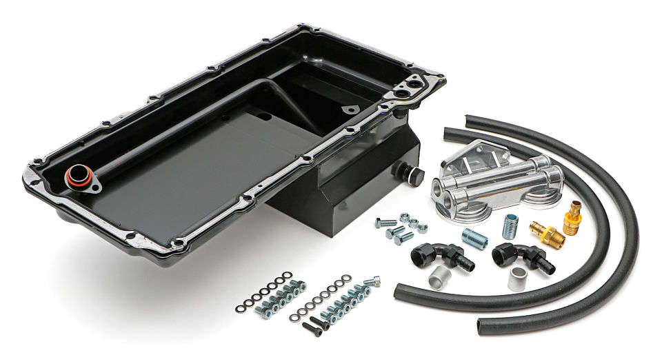 0182- HAMUBURGERS PERFORMANCE LS OIL PAN & FILTER RELOCATION KIT