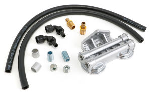 Double Oil Filter Relocation Kit For LS Oil Pans with-10AN fittings