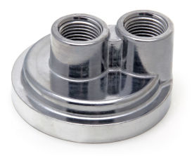 Spin-on Oil Filter Bypass; 2-1/2 in. ID; 2 3/4 in. OD Flange w/ 18mmX1.5 Threads