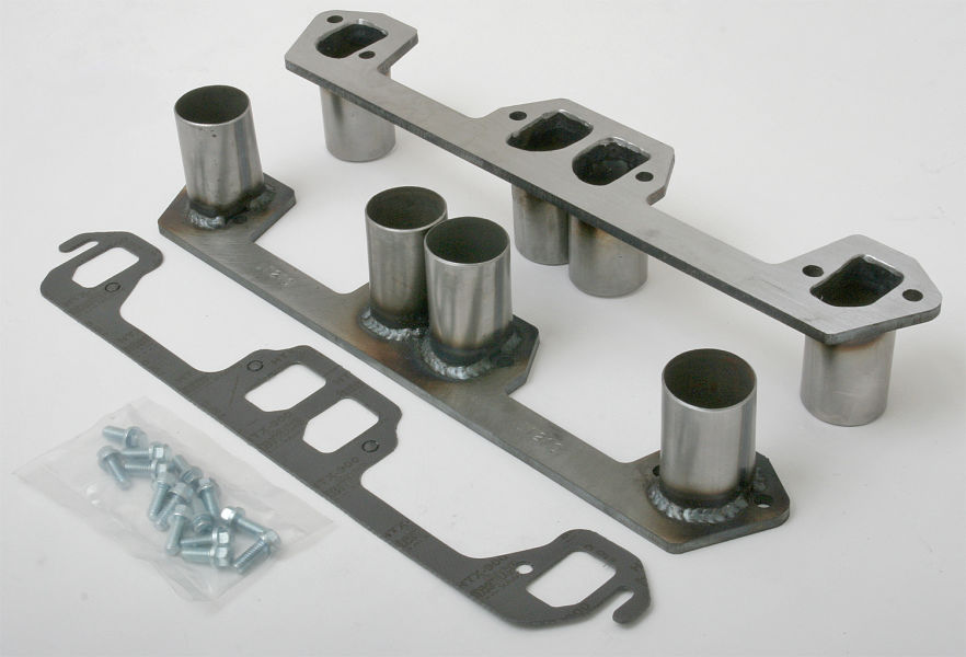 photo of header flanges with stubs for Mopar 273-360 engines