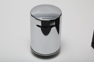 Oil Filter; 3/4 in.-16; 2-5/8 in. Diameter O-Ring Seal; 5-1/4 in. Tall-CHROME