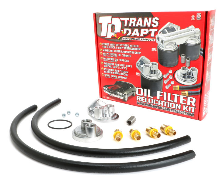 Photo of single oil filter relocation kit