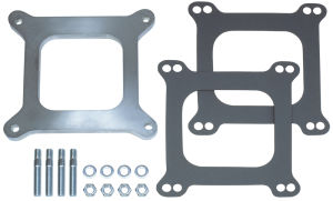 3/8 in. Tall, HOLLEY 4BBL SPACER - Open- CAST ALUMINUM Carburetor Spacer