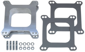 2 in. Tall, HOLLEY/AFB 4BBL SPACER -Open- CAST ALUMINUM Carburetor Spacer