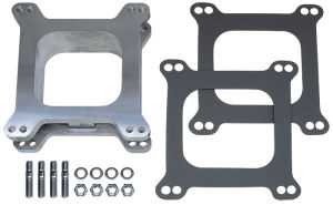 2 in. Tall, HOLLEY/AFB 4BBL SPACER w/PCV -Open- CAST ALUMINUM Carburetor Spacer