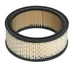 ROUND High Flow Air Filter Element (PAPER) 6-3/8 in. Diameter; 2-3/8 in. Tall