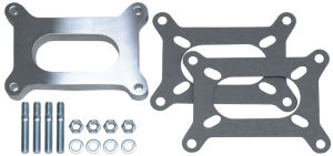 1/2 in. Tall, HOLLEY 2BBL SPACER -Open- CAST ALUMINUM Carburetor Spacer