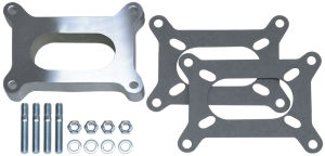 1 in. Tall, HOLLEY 2BBL SPACER -Open- CAST ALUMINUM Carburetor Spacer
