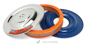 Ford Mustang 14 in. x 2 in. Air Cleaner Set; factory style 289 CI Sticker