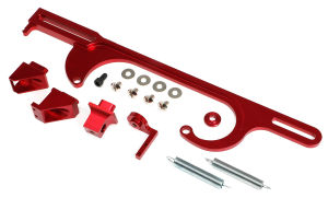 THROTTLE BRACKETS BILLET ANODIZED RED 4500 CARB