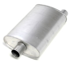 2-1/2 in. Inlet/Outlet Turbo Muffler; 18 in. Long; 10 in. Wide; 4-1/2 in. Tall